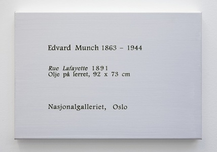 LCM, Edvard Munch, Rue Lafayette, 1981