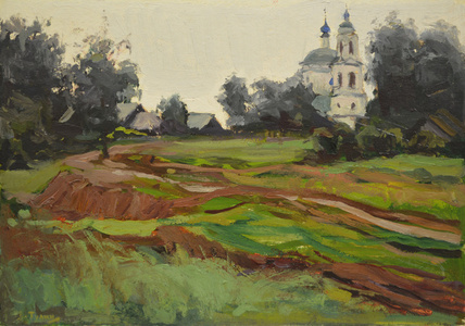 Landscape with church