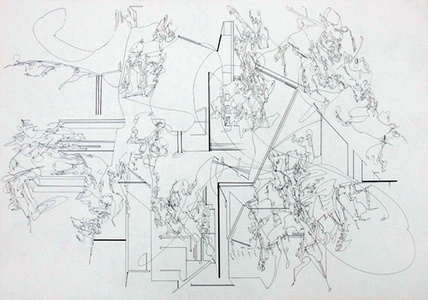 Drawing - Looking at the Vacant Scenery 8