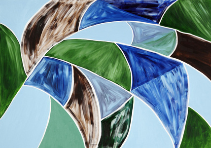 Untitled (Blue, Green, Brown)