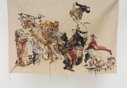 """Banner 4, from """"La révolte du Caire"""", Anne Girodet de Roucy Trioson"""