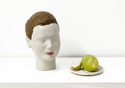 Volumetric Portait of a Young Girl Who Had Just Washed her Face with Lemon Juice