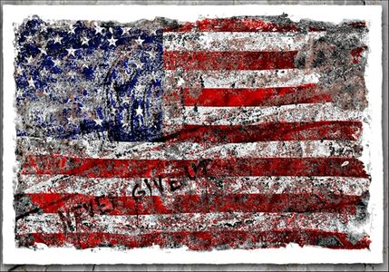 """Never Give Up"" Independence Day - American Flag"