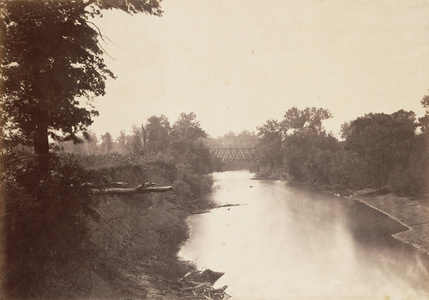 Railroad Bridge Across Grasshopper Creek, Kansas