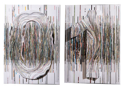 """01/6.7.2015"" a diptych with 3D sensation"
