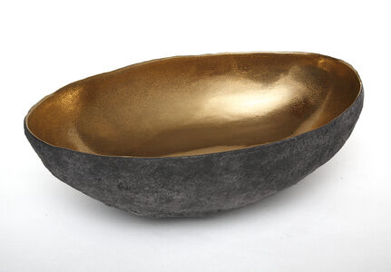 Large Gold Oval Vessel