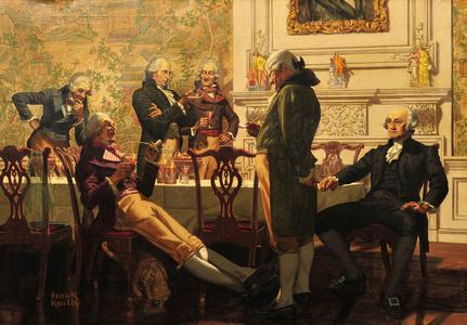 Washington's First Meal at His Philadelphia Home