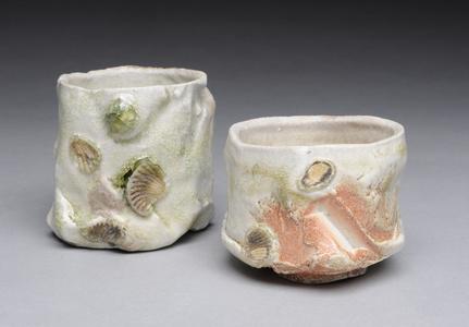 Guinomi Green with Shells