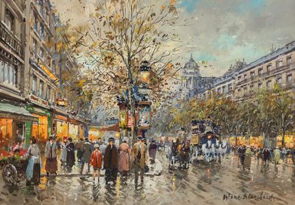 Les Grandes Boulevards, Paris 1900