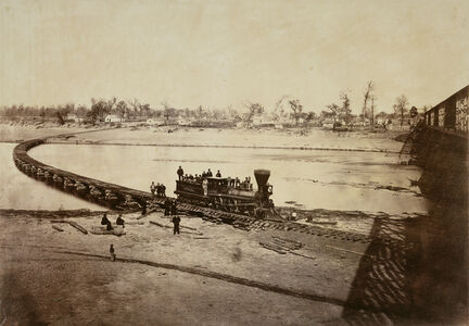 Leavenworth, Lawrence, and Galveston Railroad Bridge across the Kaw River at Lawrence, Kansas