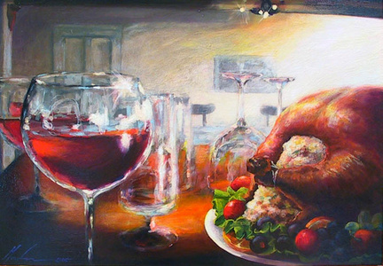 Feast and Be Merry (the sale of this work benefits the non-profit Zenith Community Arts Foundation)