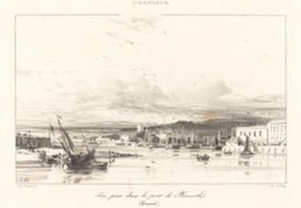 View in Plymouth Port (Vue prise dans le port de Plymouth)