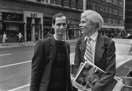 AW and John Waters on Madison Av. 1981