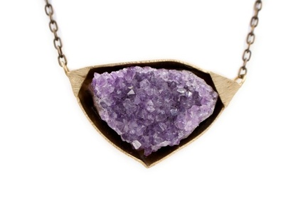 Amethyst Bronze Necklace
