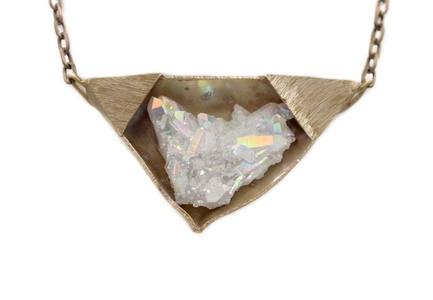 Aura Crystal Bronze Necklace