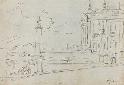 The Ripetta in Rome [verso]