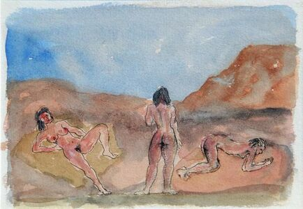 Untitled (Three nude women in a landscape)