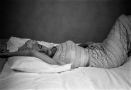US actress Marilyn Monroe resting (Bement, Illinois)