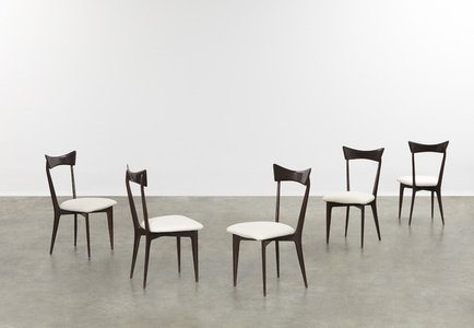 Set of five dining chairs