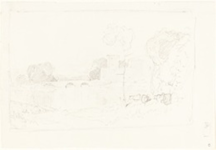 Landscape Sketch with Bridge and Castle