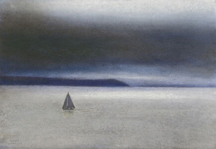 Sailboat off the Antrim Coast
