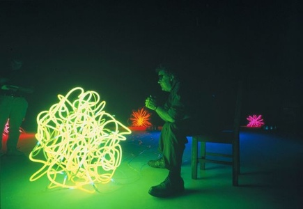 Dale Chihuly with Tumbleweeds