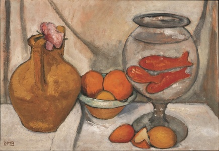 Nature Morte au Bocal de Poissons Rouges