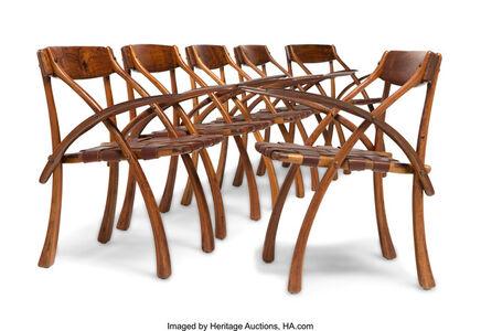Set of Six Wishbone Armchairs