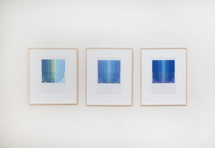 Zyklische Permutation, series of 3 drawings