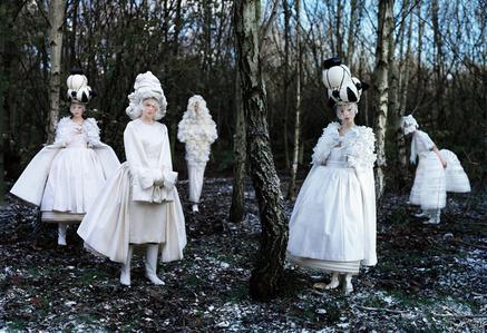 Xiao Wen Ju, Frida Gustavsson, Anaïs Pouliot & Fei Fei Sun, Comme des Garçons 'White Drama' Collection, London