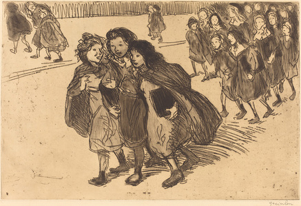 Girls Coming from School (Gamines sortant de l'ecole)