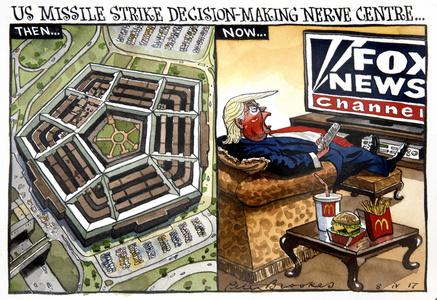 US Missile Strike Decision-Making Nerve Centre...