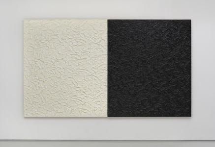 Abstract Diptych #24 (Titanium-Zinc White in safflower oil/Mars Black in linseed oil)