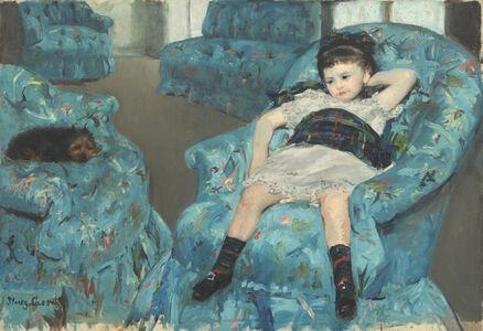 Little Girl in a Blue Armchair