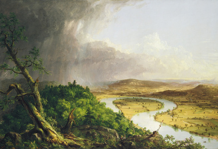 View from Mount Holyoke, Northampton, Massachusetts, after a Thunderstorm (known as The Oxbow)