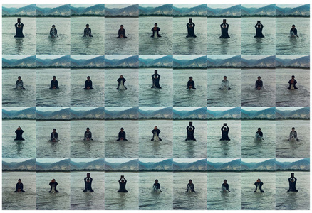 Printing on Water (Performance in the Lhasa River, Tibet, 1996) 印水