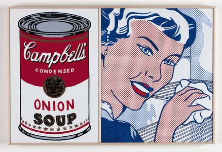 Roy Lichtenstein, 'The Refrigerator,' 1961 and Andy Warhol, 'Large Campbell's Soup Can, Onion,' 1964