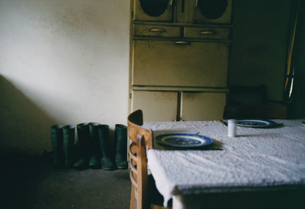 Farmhouse Kitchen with Table and Boots, Norfolk