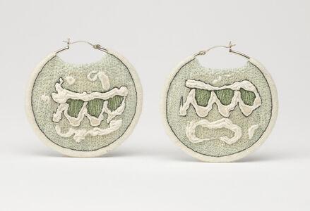 Large White Trampoline Earrings