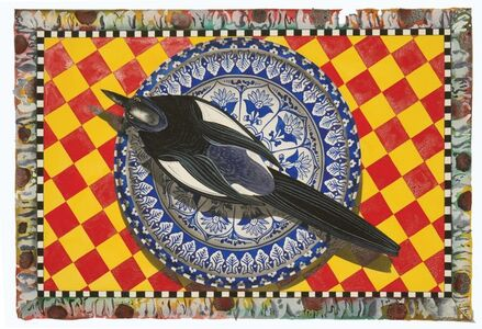 Blue Plate Series: Still life magpies