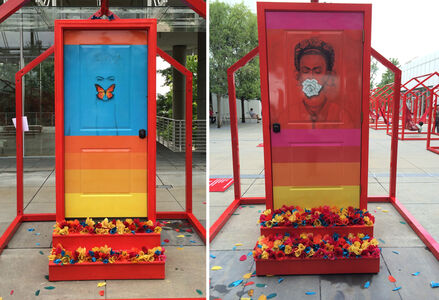 Flowers Door (Tribute to Frida Kahlo)