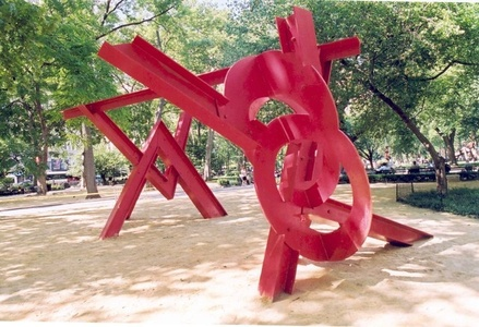 Mark di Suvero: Aesop's Fables, Beyond, Double Tetrahedron