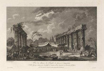 Vue des Ruines du Temple de Junon, a Metapontum