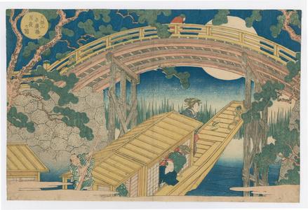 Famous Places of Naniwa (Osaka), Views of Tempozan at a Glance:Moonlit Night at Suehiro Bridge