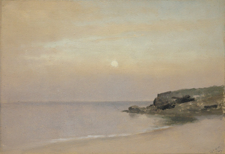 Pale Moonlight, Placid Sea, Rocky Point