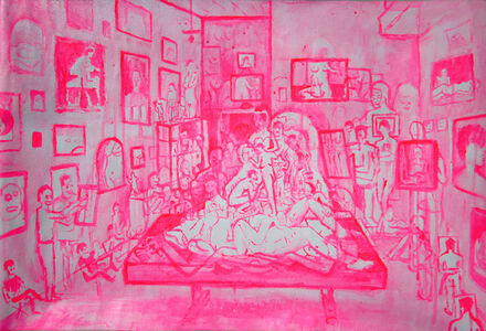 Three-Hour Figure Drawing Session in Pink