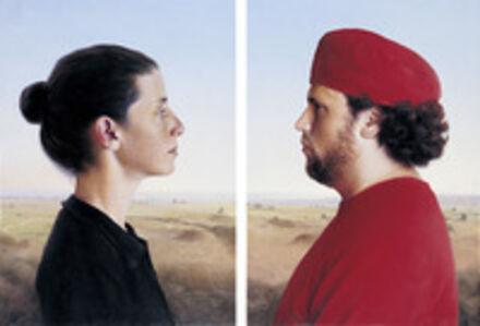 Double Portrait of Anat & Shay after Pierro de la Francesca