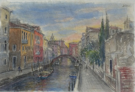 Evening Light on Venetian Canal