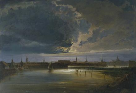 Moonlit View of Stockholm