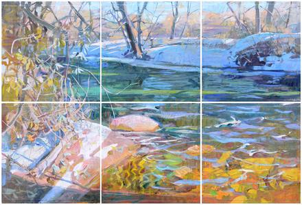 Prism Creek (Hexaptych)
